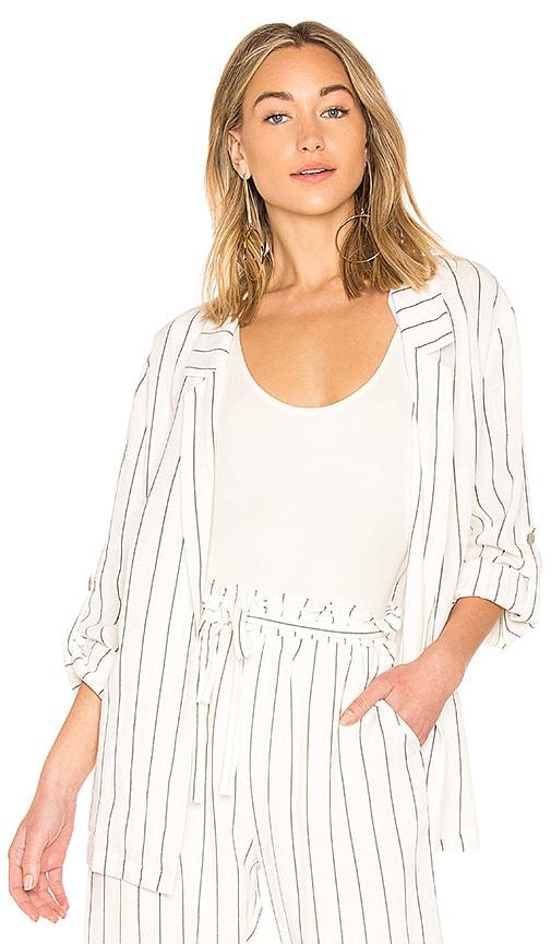 MINKPINK Pin Stripe Blazer in White