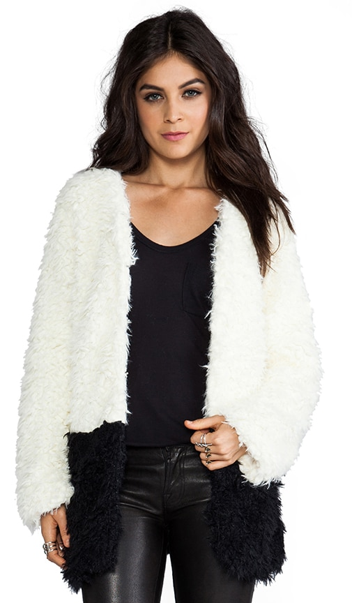 Farshion Faux Fur Long Coat