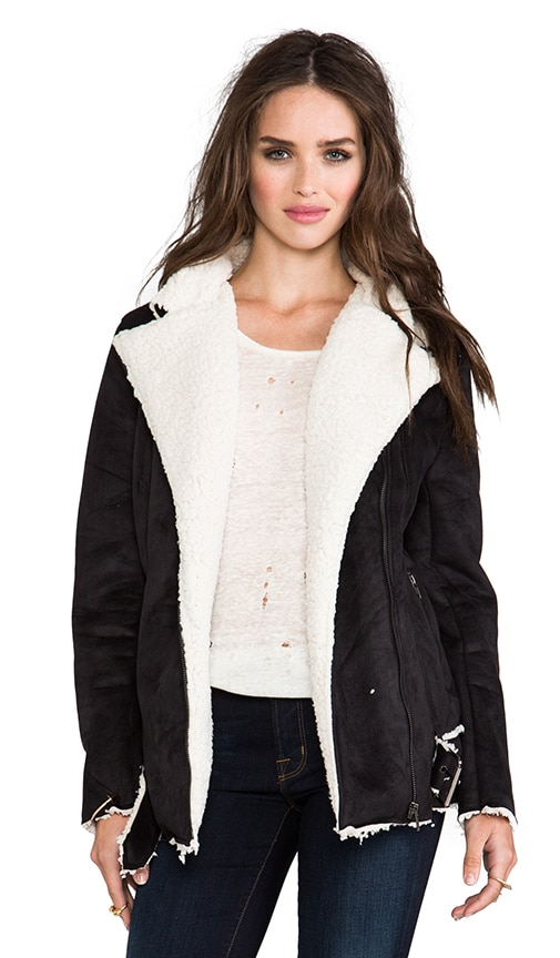 Always and Forever Biker Faux Shearling Jacket