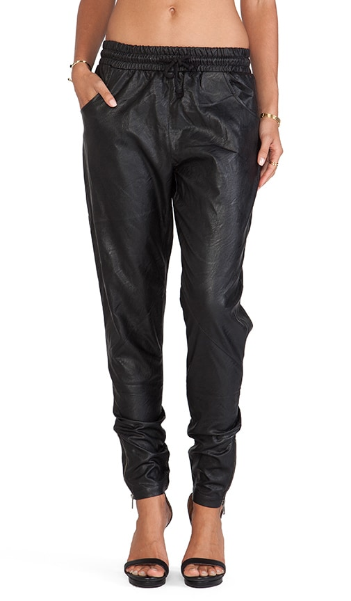 Out Bound Faux Leather Jogger