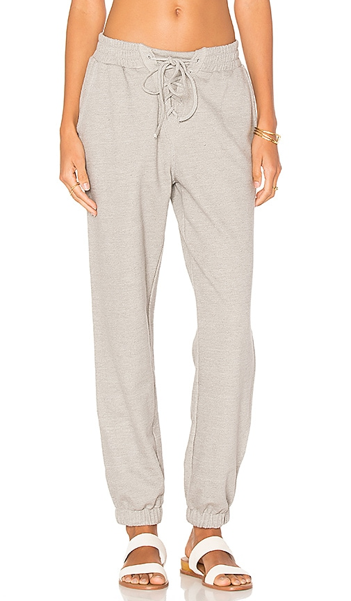 MINKPINK Lace Up Track Pant in Gray
