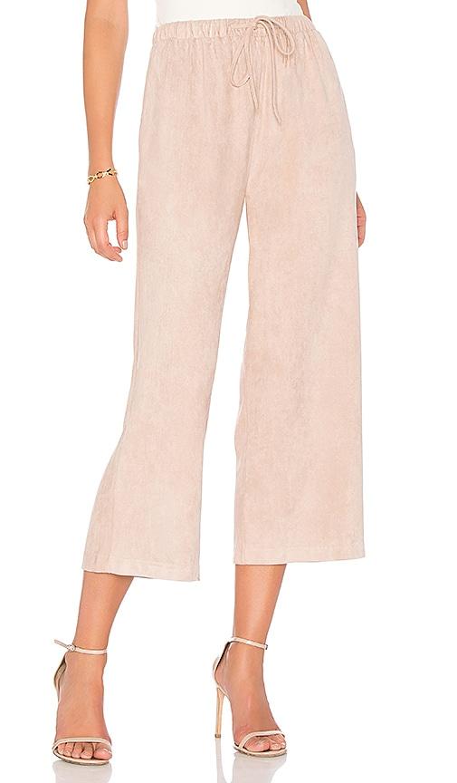 MINKPINK Suede Pants in Pink