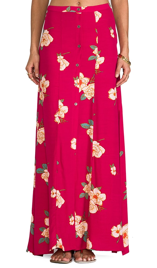 Flower Effect Maxi Skirt