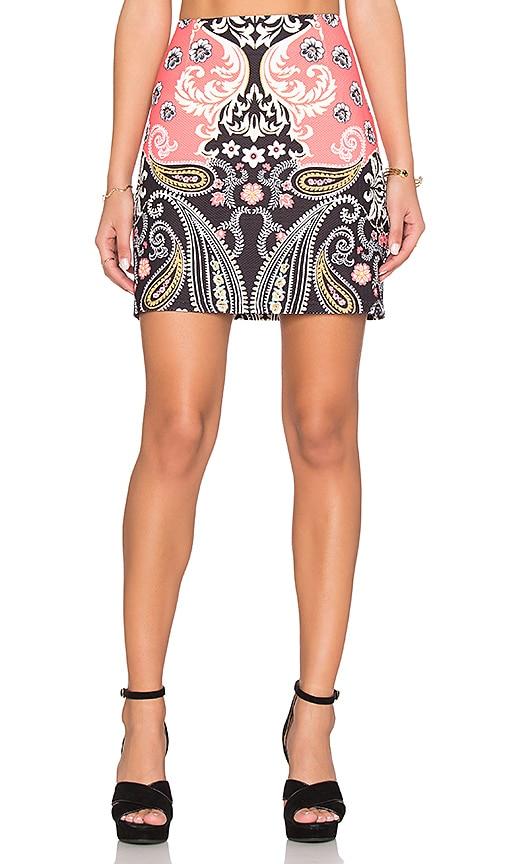 MINKPINK Paisley Picture Mini Skirt in Multi