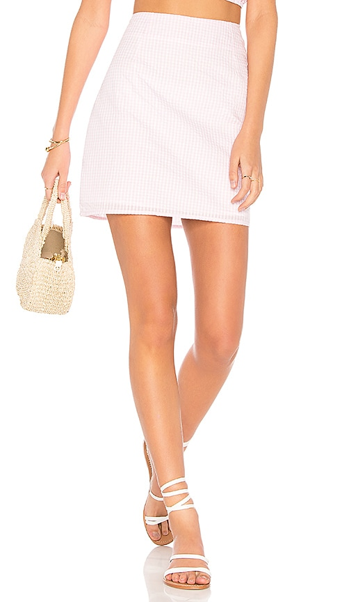 MINKPINK Gables Skirt in Pink