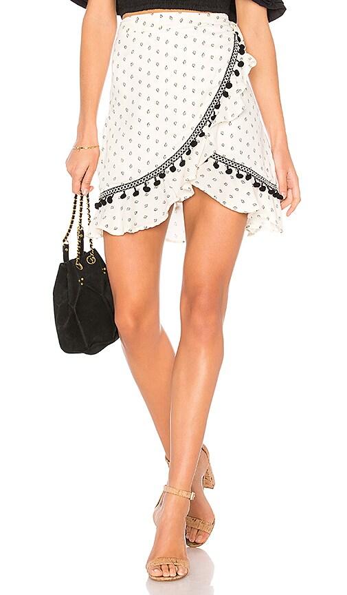 MINKPINK Common Ground Skirt in Cream