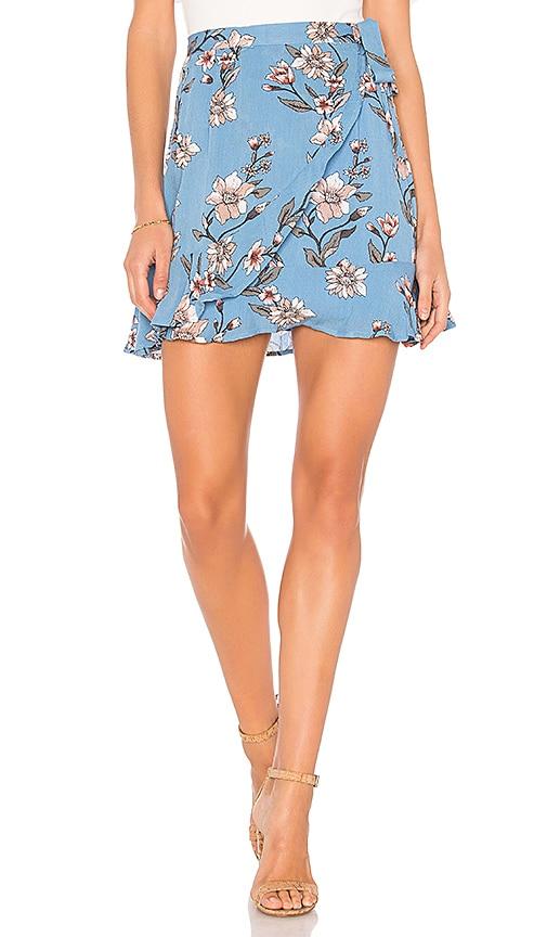 MINKPINK Somerset Wrap Skirt in Blue