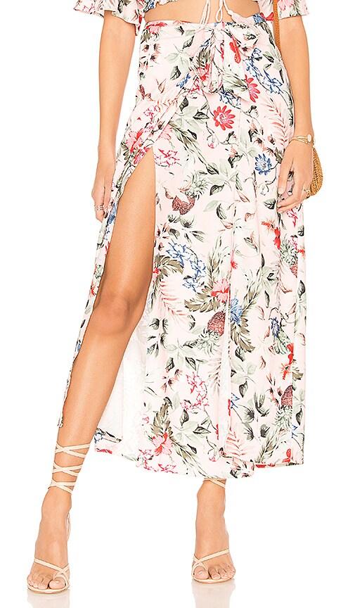 MINKPINK Aloha Maxi Skirt in Pink