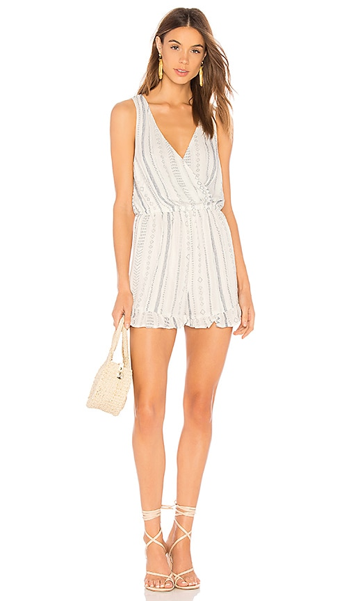 Georgia Ruffle Romper in White. - size M (also in L,S,XS) Minkpink