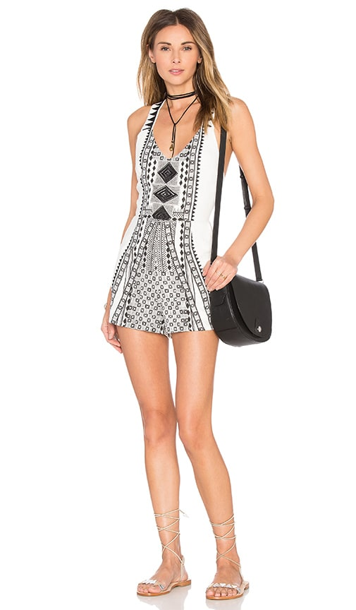 MINKPINK Eco Warrior Romper in Black & White
