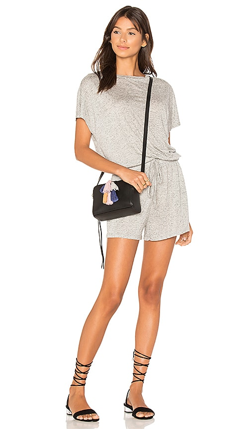 Square Textured Tee Playsuit