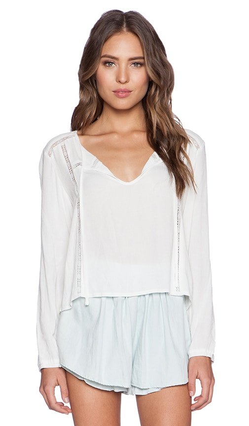MINKPINK Final Wish Blouse in Off White