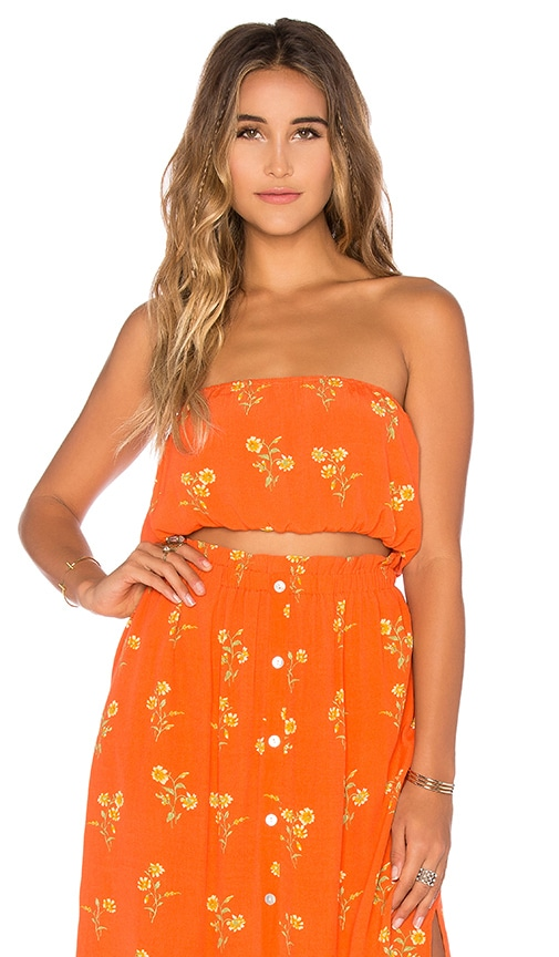 MINKPINK Honey Blossom Top in Orange