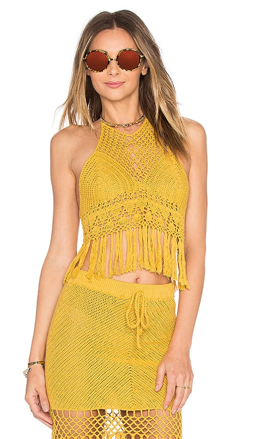 MINKPINK Adore You Top in Yellow