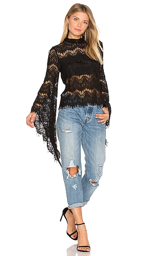 MINKPINK Drama Queen Top in Black