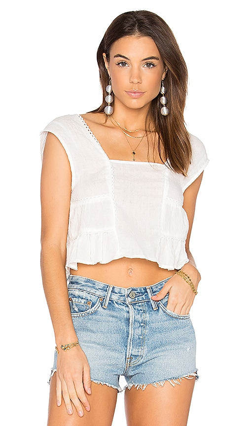 MINKPINK Cloud Nine Top in White