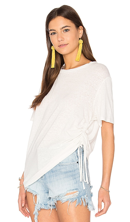 MINKPINK Fortress Drawstring Tee in White