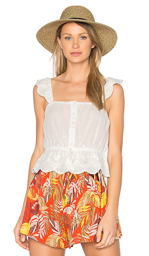 MINKPINK Athena Broderie Anglais Top in White