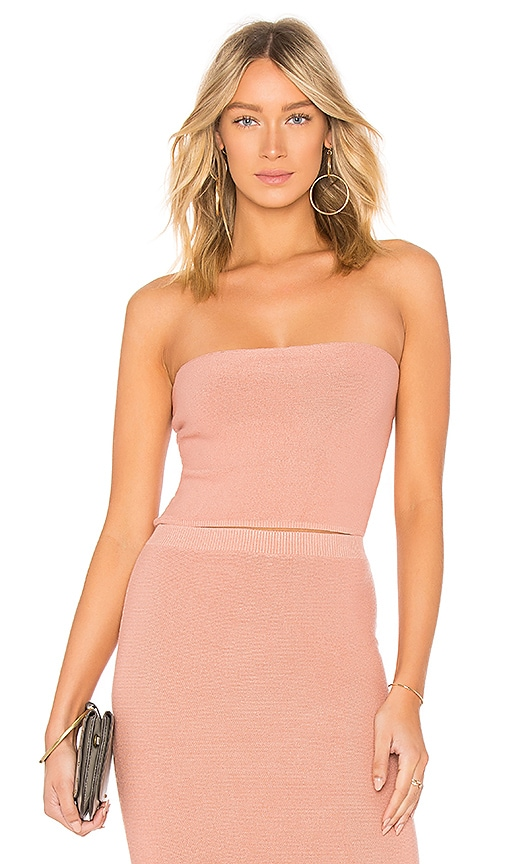 MINKPINK Knit Bandeau Top in Blush