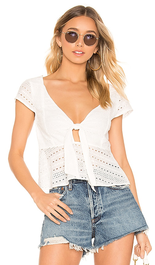 Julep Lace Tie Front Top