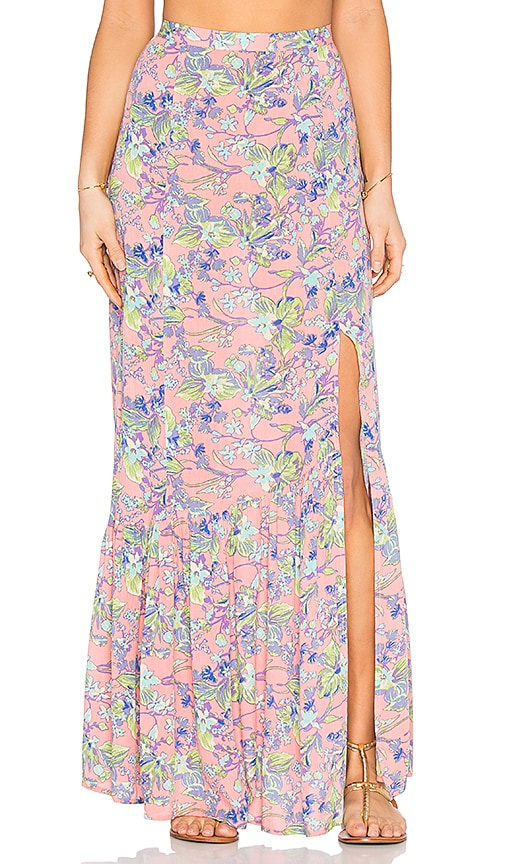MINKPINK Staring At Sunsets Maxi Skirt in Pink