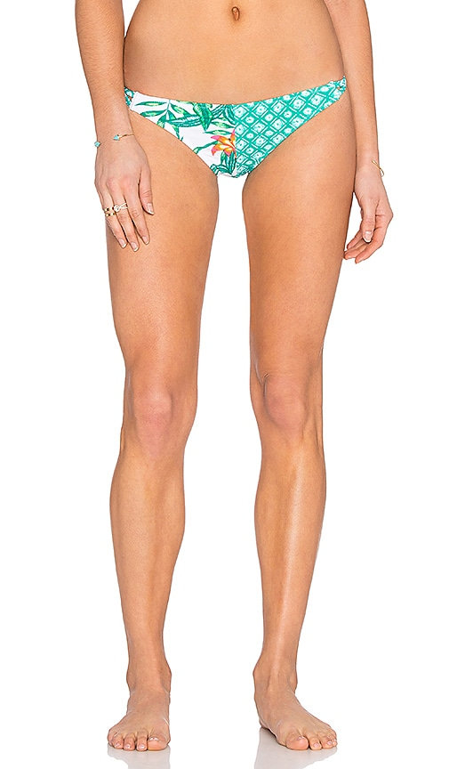 MINKPINK Panama Palms Bikini Bottom in Green