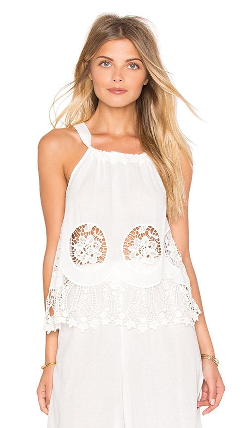 MINKPINK Splendor Falls Top in White