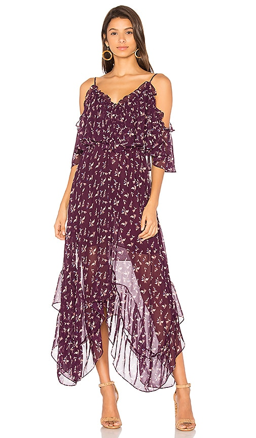 MISA Los Angeles Desi Dress in Purple
