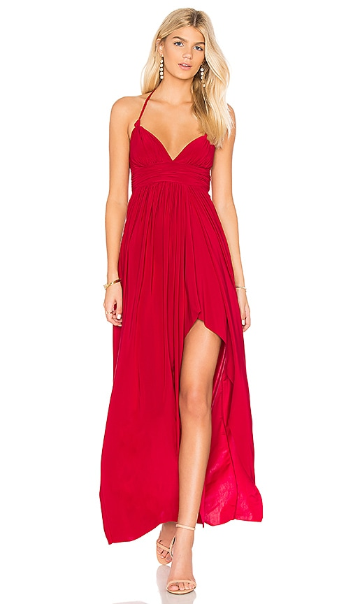 MISA Los Angeles Ever Maxi Dress in Red