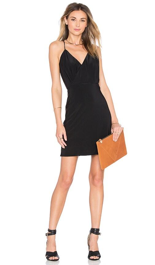 MISA Los Angeles Liza Cross Back Dress in Black
