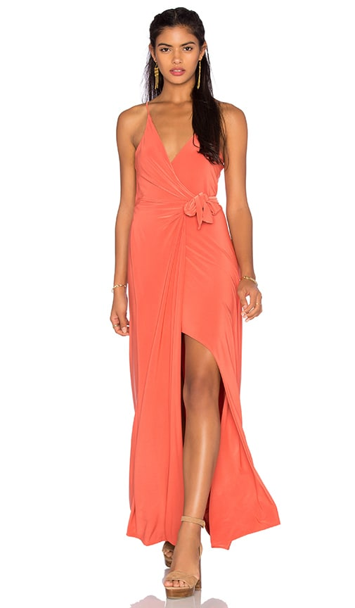 MISA Los Angeles Veronika Maxi Dress in Orange