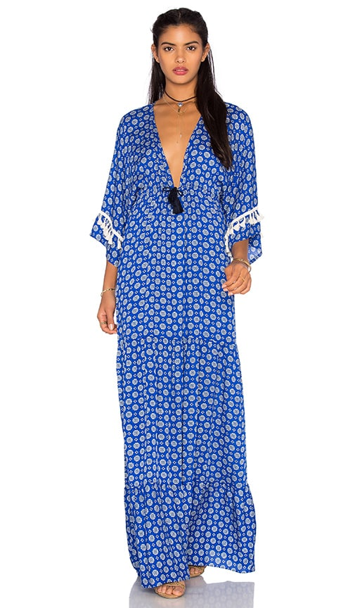 MISA Los Angeles Mica Maxi Dress in Mykonos Print