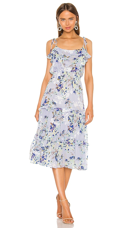 MISA Los Angeles Inae Dress in Periwinkle Floral | REVOLVE