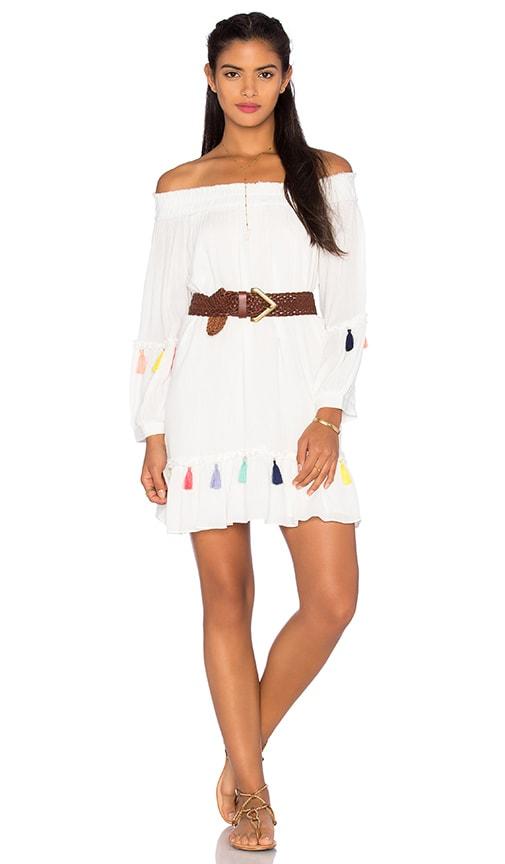 MISA Los Angeles Camilla Mini Dress in Pearl