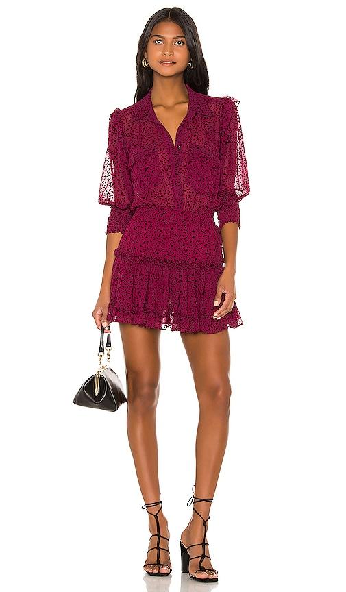 f21486c25a6f6 MISA Los Angeles X REVOLVE Lillian Dress in Red Velvet Burnout | REVOLVE