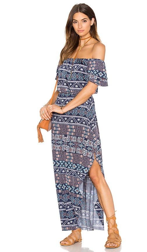 MISA Los Angeles Willow Maxi Dress in Navy