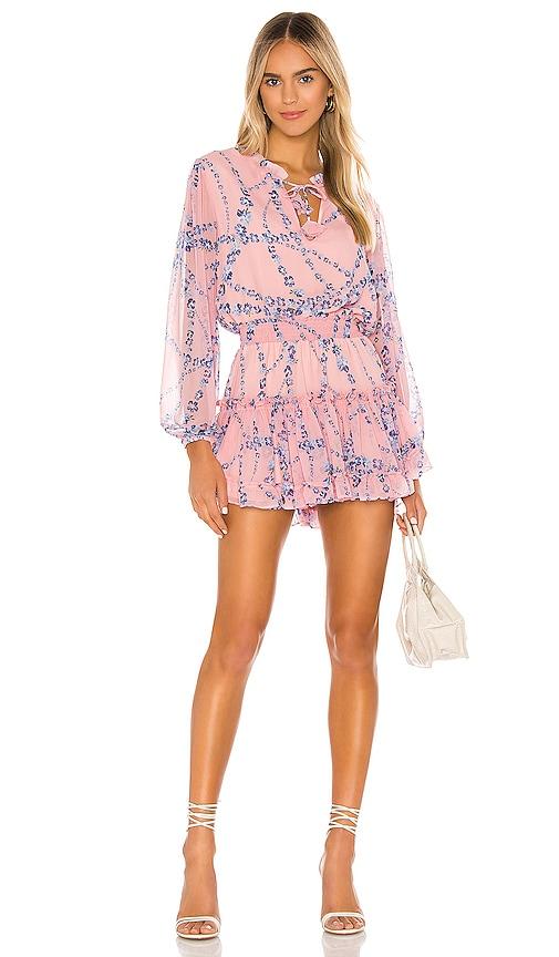 MISA Los Angeles Lorena Dress in Intertwined Pink Floral