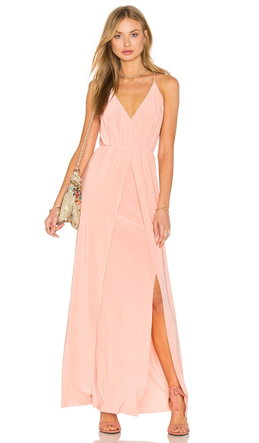 MISA Los Angeles Nola Double Slit Maxi Dress in Pink