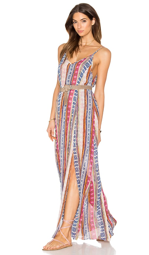MISA Los Angeles Georgia Maxi Dress in Pink