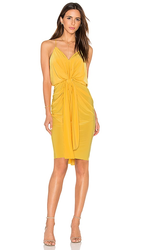 MISA Los Angeles Domino Midi Dress in Yellow
