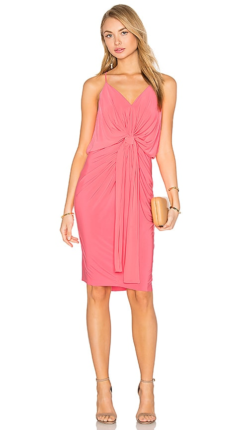 MISA Los Angeles Domino Midi Dress in Hot Pink