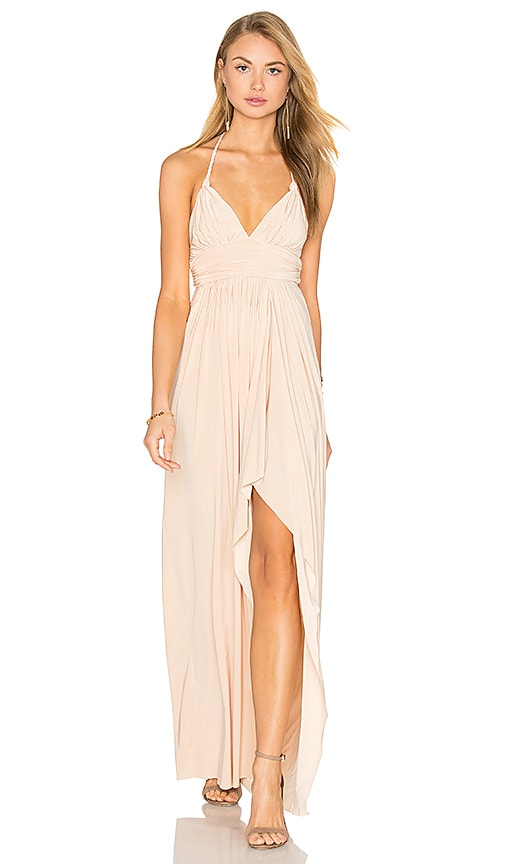 MISA Los Angeles Ever Maxi Dress in Tan
