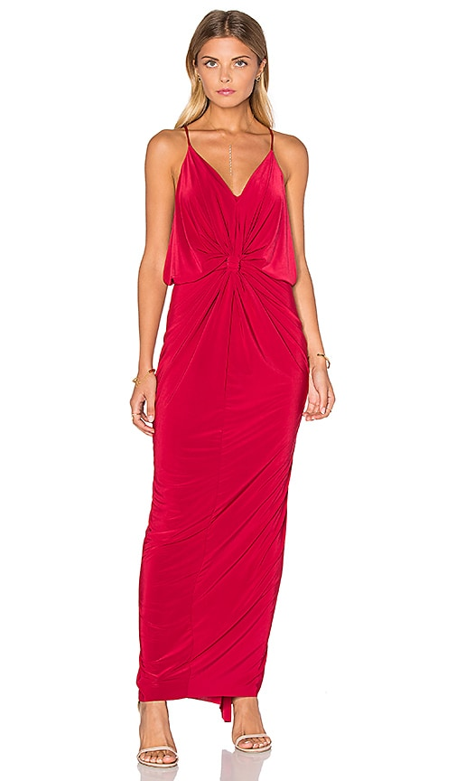 MISA Los Angeles Domino Maxi Dress in Red