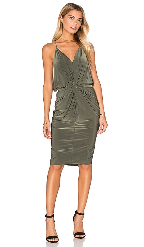 MISA Los Angeles Domino Dress in Olive