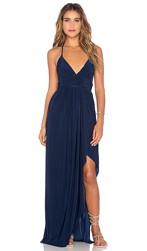 MISA Los Angeles Ever Maxi Dress in Navy