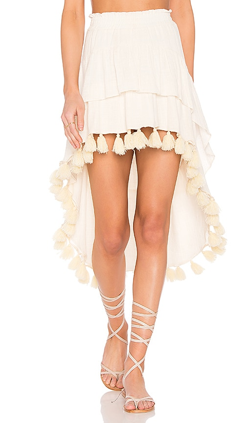 MISA Los Angeles Santina Skirt in Cream