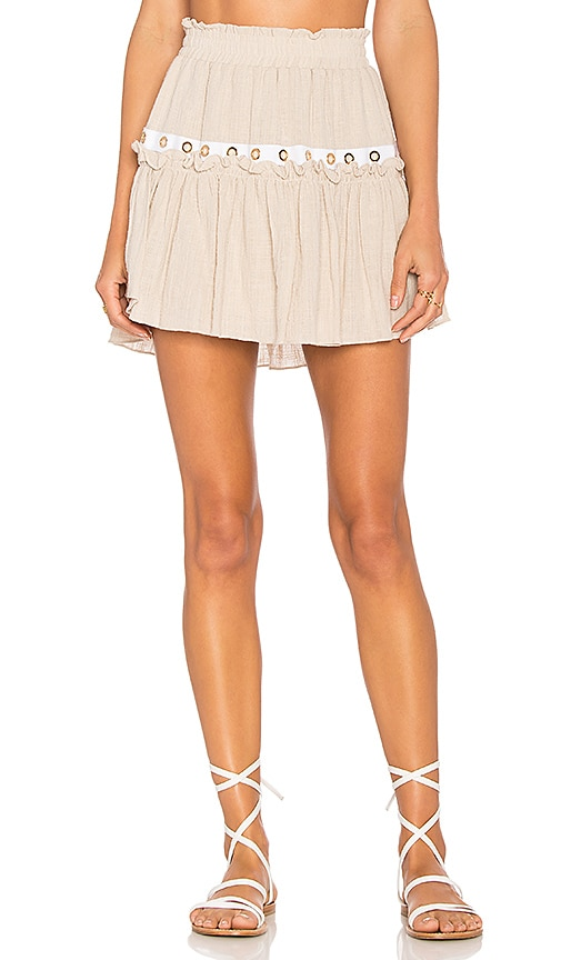 MISA Los Angeles Alana Skirt in Beige