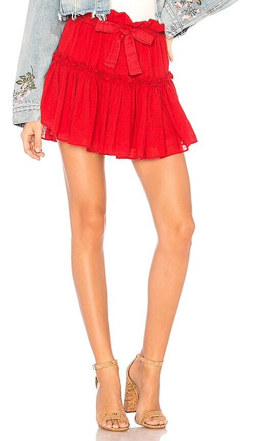 MISA Los Angeles Luchia Skirt in Red