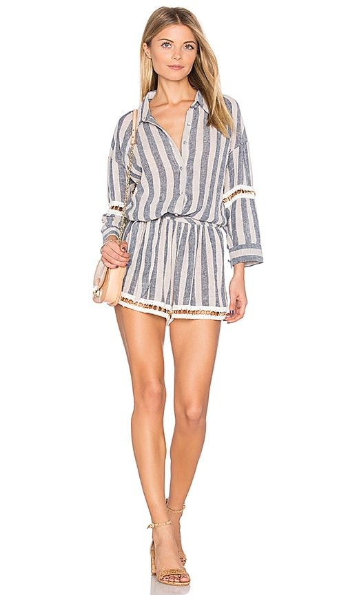 MISA Los Angeles Priya Romper in Blue