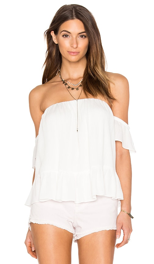 MISA Los Angeles Anais Off Shoulder Top in White